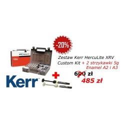 Kerr HERCULITE XRV Zestaw 6x5g + 2 strzykawki Herculite(E:A2, E:A3) 2x5g