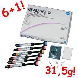 Shofu Beautifil II 6 Color Set - 6x4,5g + akcesoria + strzykawka 4,5g GRATIS! 31,5G!