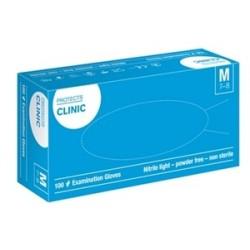 Rękawice nitrylowe bezpudrowe PROTECTS CLINIC, niebieskie, rozmiar L, 100szt