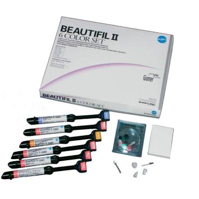 Shofu Beautifil II 6 Color Set - 6x4,5g + akcesoria